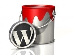 WordPress Support Services red paint bucket
