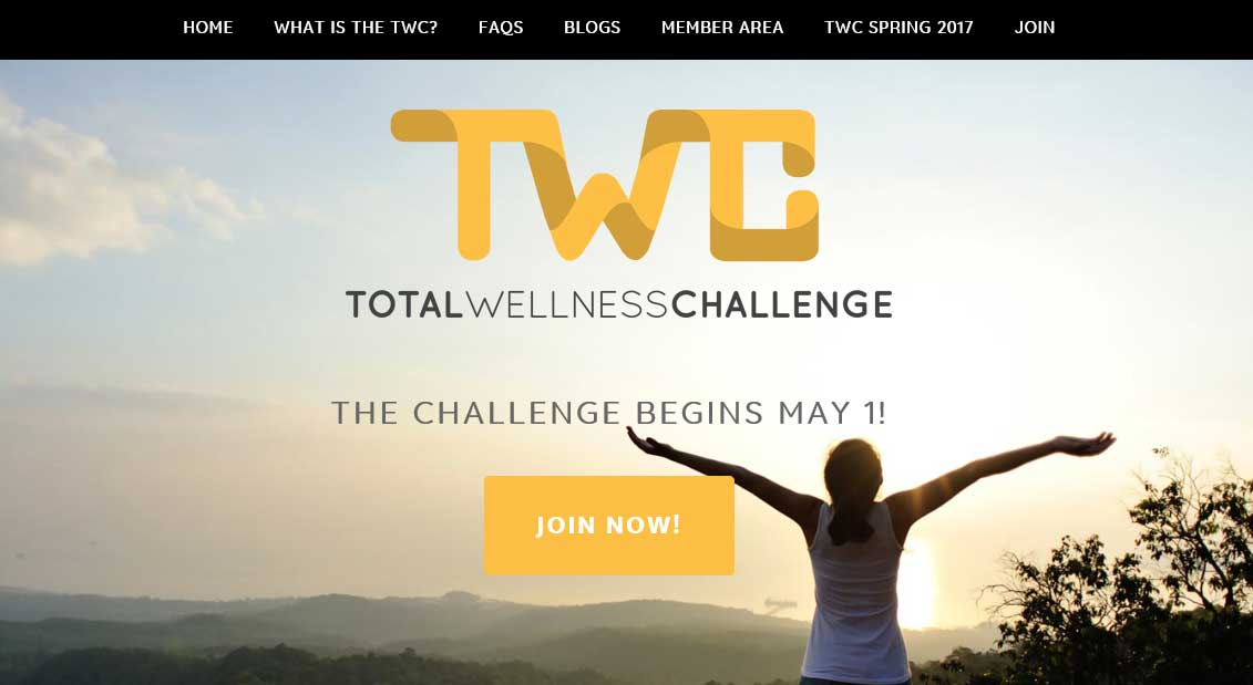 Total Wellness Challenge site