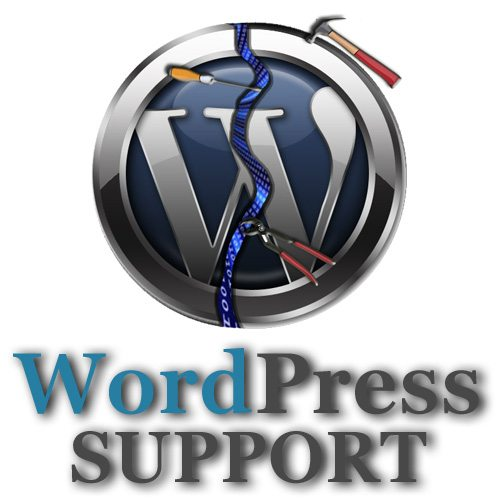 wordpress help Broken W logo