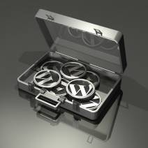 WordPress logos in briefcase